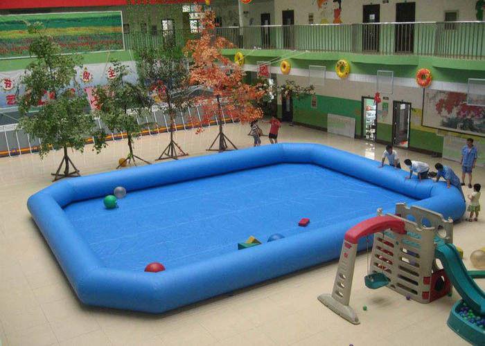 Pvc buiten blauw rechthoekig opblaasbaar zwembad for Rechthoekig zwembad met pomp