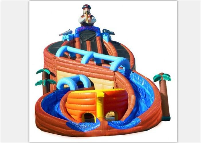 Excitin Clown Inflatable Curved Water Slide With Fire Resistant PVC Tarpaulin